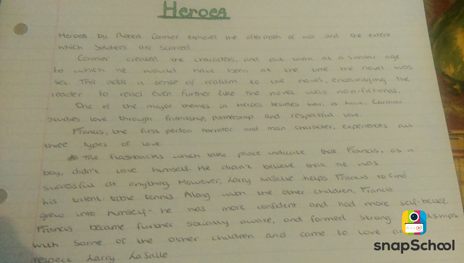 heroes by robert cormier short Heroes - robert cormier contents heroes is one of the choices of prose texts in the gcse english literature paper for aqa specification a heroes is only a short novel read it once all the way through, and then read it again more slowly.